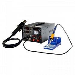 Stacja lutownicza - 75 W - 2 x kolba - zasilacz - 3 x LED - Basic STAMOS 10021022 S-LS-13 Basic