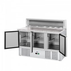 Stół chłodniczy - 137 x 70 cm - granitowy blat ROYAL CATERING 10010922 Stół chłodniczy - 137 x 70 cm - granitowy blat