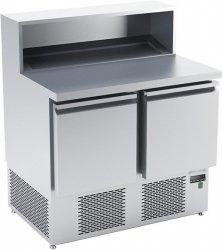 Stół chłodniczy do przygotowywania pizzy o pojemności 2x85l 950x700x850/1120 DM-94042