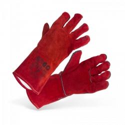 Rękawice spawalnicze - czerwone STAMOS 10020992 SWG02-REDK