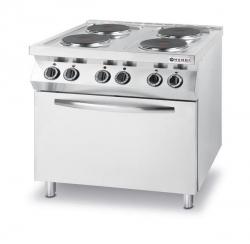 Kuchnia elektryczna 4-płytowa Kitchen Line z konwekcyjnym piekarnikiem elektrycznym GN 1/1 HENDI 225936 225936