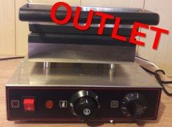 OUTLET | Gofrownica elektryczna prostokątna pojedyncza teflonowana COOKPRO 500010005 500010005