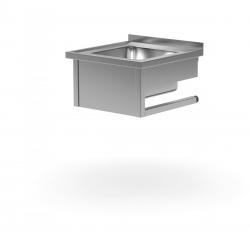 Stół wiszący ze zlewem 700 x 700 x 300 mm POLGAST 211077-WI 211077-WI