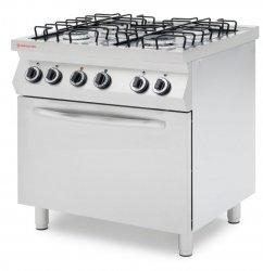Kuchnia gazowa 4 palnikowa z piekarnikiem elektrycznym GN1/1 REVOLUTION 226438 226438