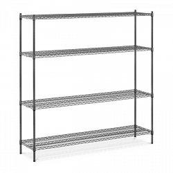 Regał metalowy - druciany - 4 półki - 450 x 1800 mm MSW 10061363 MSW-1800P01