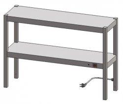 Nadstawka grzewcza dwupoziomowa ENG 20 o wymiarach 1100X300 EGAZ ENG-20-1100X300X600 ENG 20 1100X300X600