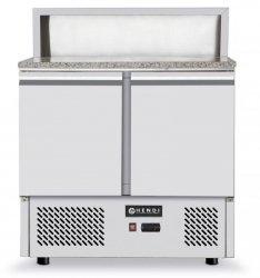 Stół chłodniczy 2-drzwiowy z nadstawą i blatem granitowym HENDI 232859 232859