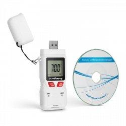 Rejestrator temperatury i wilgotności - LCD - USB STEINBERG 10030409 SBS-DL-200L
