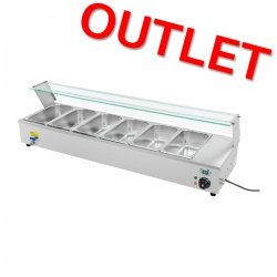 OUTLET | Bemar z osłoną 6 x GN 1/3 ROYAL CATERING 10010045 RCBM-63