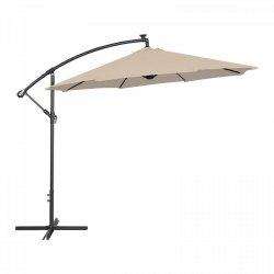 Parasol ogrodowy wiszący - Ø300 cm - kremowy - LED UNIPRODO 10250082 UNI_UMBRELLA_R300CRL