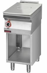 Płyta grzewcza gazowa chromowana 400 mm na podstawie szafkowej otwartej  KROMET 700.KG/I-400.S LINIA 700