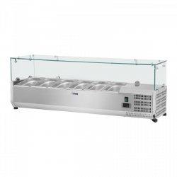 Nadstawa chłodnicza - 5 x GN 1/3 - 150 x 39 cm - szklana osłona ROYAL CATERING 10010945 RCKV-150/39-G5