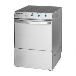 Zmywarko wyparzarka uniwersalna 400/230V z dozownikiem płynu myjącego, po mpą zrzutową i pompą wspomagającą płukanie STALGAST 801517 801517
