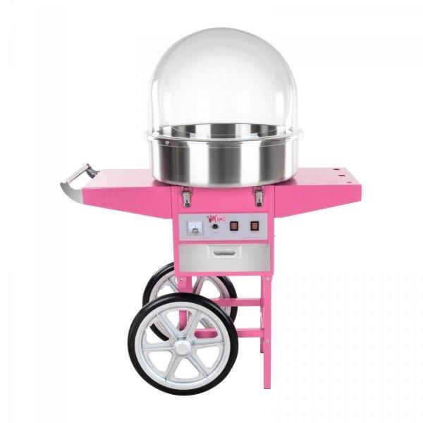 Maszyna do waty cukrowej - 52 cm - wózek - pokrywa ROYAL CATERING 10010083 RCZC-1200E