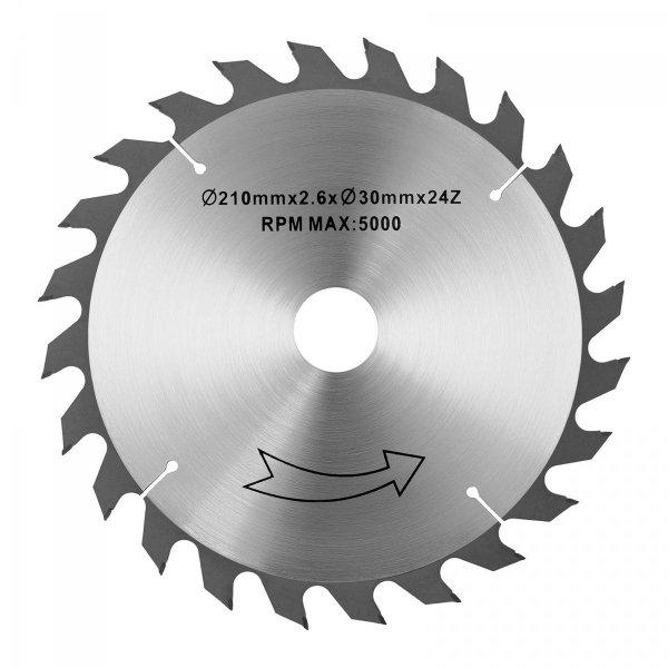 Tarcza do piły tarczowej - 210 mm - 30 mm MSW 10060801 MSW-SB-210/30