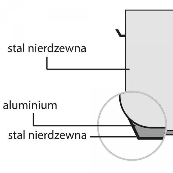Garnek wysoki d 320 mm 20,9 l z pokrywką