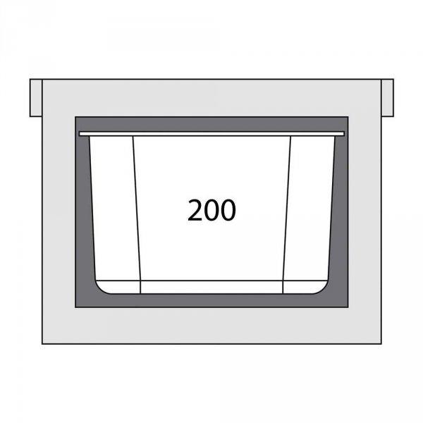 Termos transportowy GN 1/1 200 mm