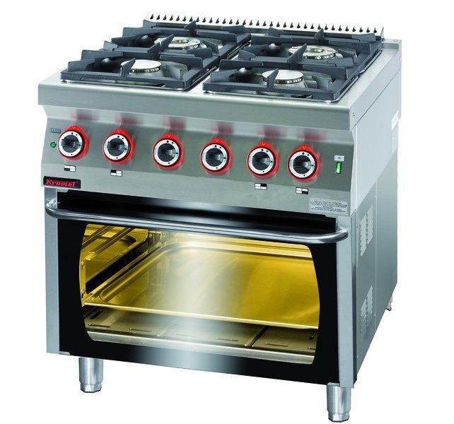 Kromet 700 Kg 4 Pe 2 Kuchnia Gazowa Z Piekarnikiem Elektrycznym