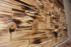 Panel ścienny ciosany  świerk / sosna cegiełka  3D  1m2