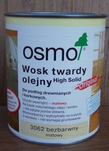 Osmo - Wosk Twardy Olejny - matowy 3062 - 2,5l