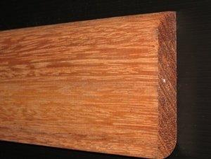 Merbau listwa cokołowa lita surowa 15x90x1500mm