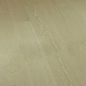 Deska podłogowa warstwowa - Dąb Wanilia  Classic 14x120x1000-1400mm fazowana,szczotkowana, lakierowana