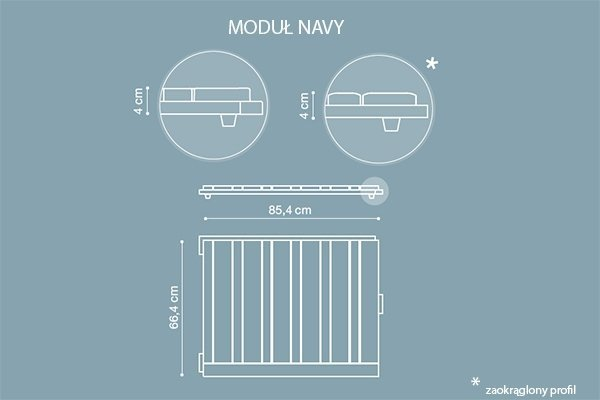Teak FSC deska tarasowa modułowa Navy 30x674x897mmx