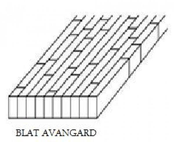 Blat jesion lity avangard kl. BC 40x1200x4200mm