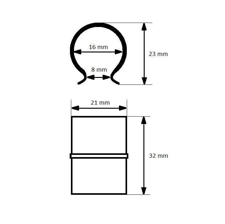 Spinki klipsy do folii BRINKMAN 16mm - 100szt.