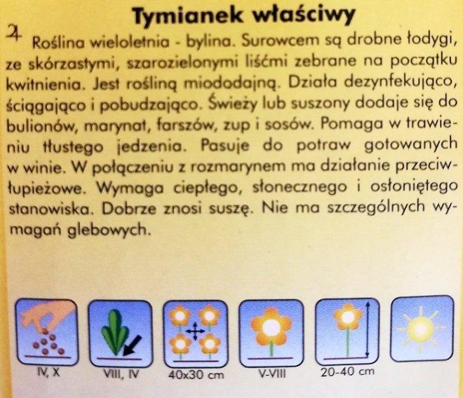 Tymianek właściwy nasiona PLantico