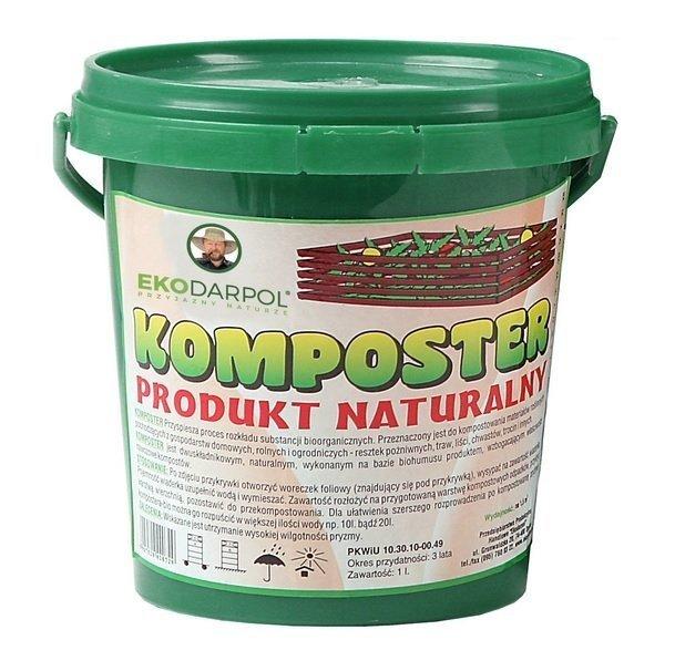 Komposter Ekodarpol w wiaderku