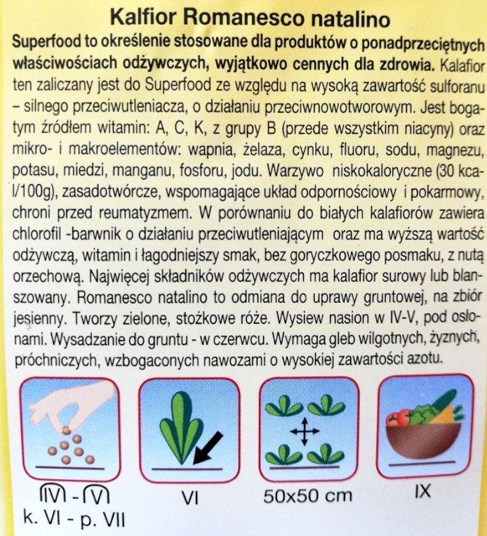 Kalafior Romanesco nasiona Plantico