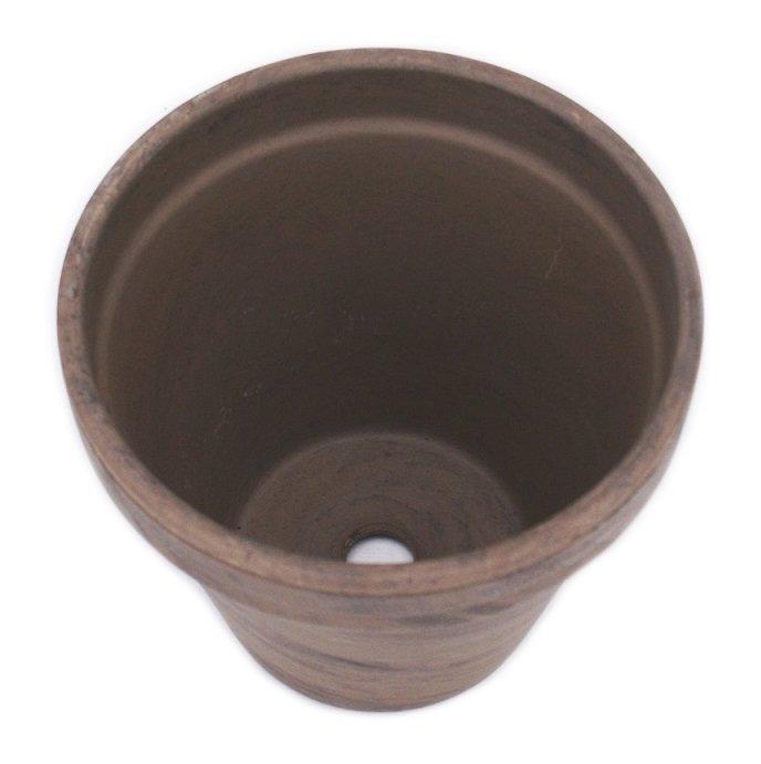 Doniczka bazaltowa gliniana
