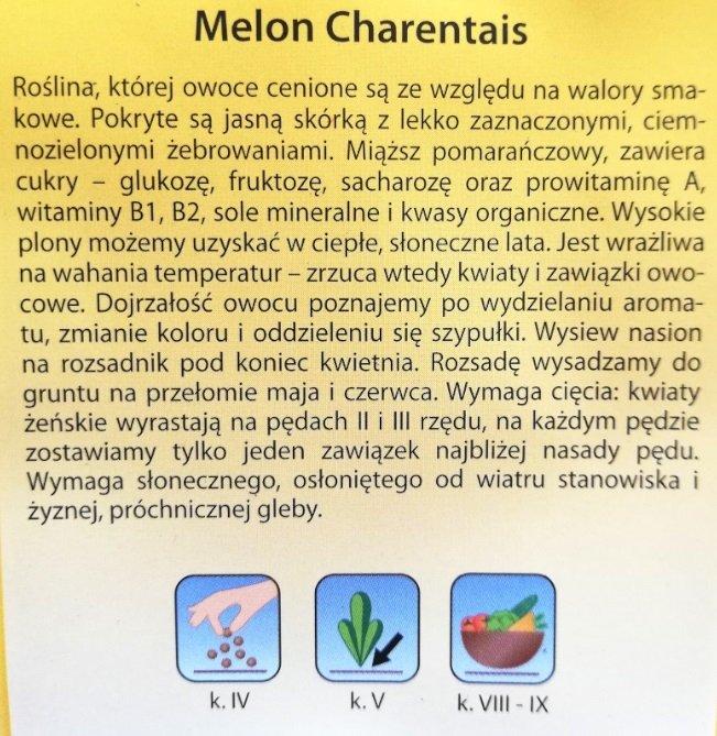 Melon Charentais nasiona Plantico