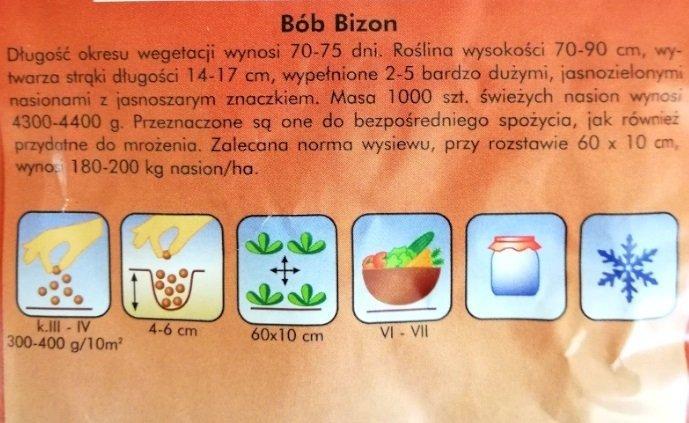 Bób Bizon nasiona Plantico
