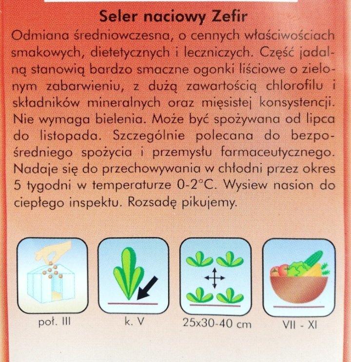 Seler naciowy ZEFIR opakowanie PLANTICO