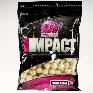 Mainline High Impact Boilies 15mm 1kg - Peaches & Cream