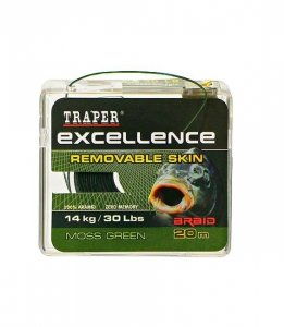 Traper EXCELLENCE Plecionka REMOVABLE SKIN 20m Moss Green 30lbs