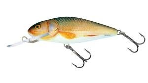 Salmo Wobler Perch Deep Runner 8cm/14g Real Roach