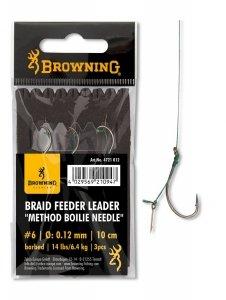 Browning FEEDER LEADER METHOD Przypon z Igłą do Kulki 4/0,14mm 10cm