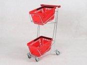 Wózek dwupoziomowy na 2 kosze 22 L. 95 cm x 54 cm x 39 cm