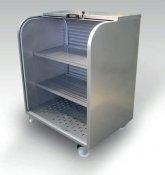 Gondola ekspozytor zewnętrzny z roletą na kółkach do 300 kg