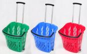 Kosz sklepowy 40 L. na kółkach z rączką MIX Kolorów