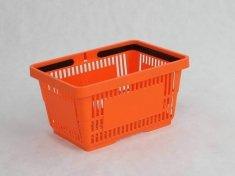 Koszyk na zakupy 22 L. Pomarańczowy 43 cm x 30 cm x 23 cm z 2 rączkami