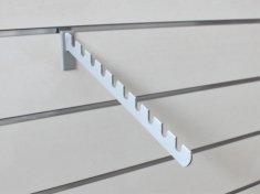 Hak SZARY skośny z nacięciami do panelu, długość 34 cm