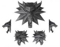 Wiedźmin 3 Witcher Wild Hunt - Wilk Rzeźba ścienna 15 x 15 cm