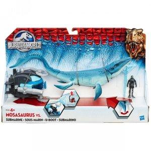 Jurassic World - Mosazaur 30 cm vs Łódź podwodna - Hasbro