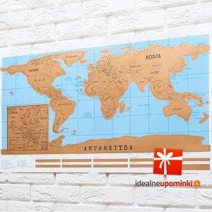 Mapa świata zdrapka - polska wersja