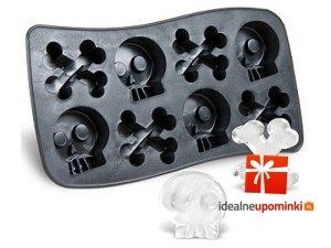 Silikonowa forma lodowa - czaszki i kości