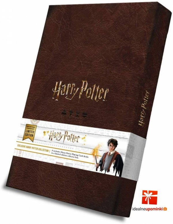 Harry Potter - Karty do gry zestaw 8 talii Harry Potter vs Lord Voldemort